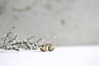 Náušnice - Líščatá mini napichovačky (Zlatá) - 10691810_