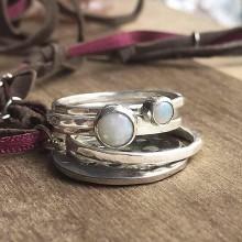 Prstene - Sada prstýnků s opály - 10690875_