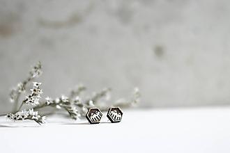 Náušnice - Mini príroda (Hexagon Hory) - 10691671_