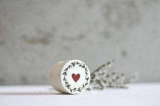 Krabičky - Mini ľúbezná krabička (Biela) - 10691800_