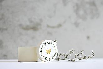 Krabičky - Mini ľúbezná krabička (Zlatá) - 10691801_