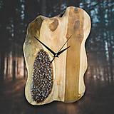 Hodiny - Coffee Time 2 - Teakové drevené hodiny - 10692665_
