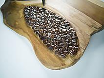Hodiny - Coffee Time 2 - Teakové drevené hodiny - 10692669_