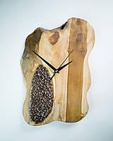 Hodiny - Coffee Time 2 - Teakové drevené hodiny - 10692673_