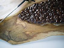 Hodiny - Coffee Time 2 - Teakové drevené hodiny - 10692677_