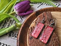 Náušnice - Cute red earrings - 10691375_