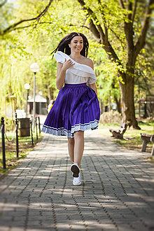 Sukne - Ručne plisovaná sukňa - Fialová 3 - 10692477_