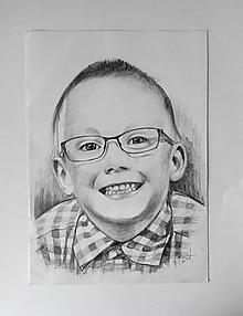 Kresby - chlapček s okuliarmi... :-) - 10691561_