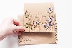 Papiernictvo - Set 62ks - Bylinková pohľadnica na mieru - 10691779_