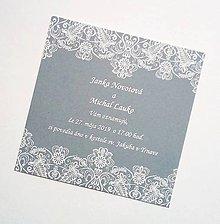 Papiernictvo - svadobné oznámenie grey - 10690898_