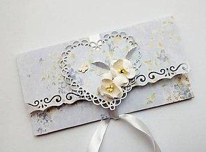 Papiernictvo - svadobná obálka na peniaze - 10691724_