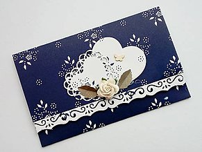 Papiernictvo - svadobná obálka na peniaze folk - 10691736_