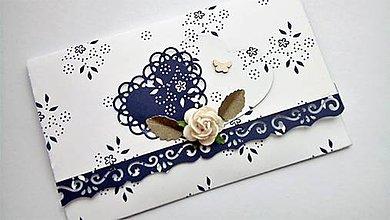Papiernictvo - svadobná obálka na peniaze folk - 10691746_