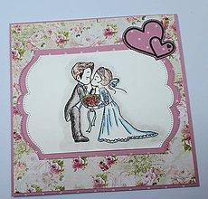 Papiernictvo - Svadobná pohľadnica - 10690956_