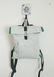 Batohy - Rolltop sivý batoh unisex - 10692139_