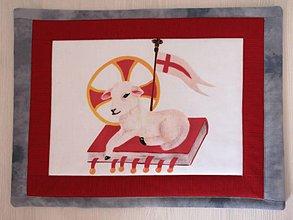 Úžitkový textil - Baránok boží - prestieranie - 10695725_