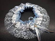 Bielizeň/Plavky - Svadobný podvazok -  tradičný modrý - 10693553_