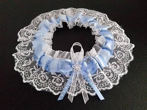Svadobný podvazok -  tradičný modrý
