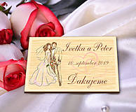 Darčeky pre svadobčanov - Svadobná magnetka - 10694927_