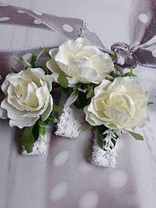 Náramky - Jemný svadobný náramok - 10693316_