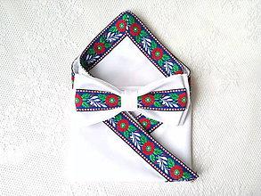Doplnky - Slovenský folklórny set (biely) - 10694427_