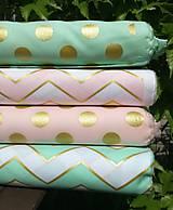 Textil - Bavlna so zlatou potlačou GLITZ - 10694581_