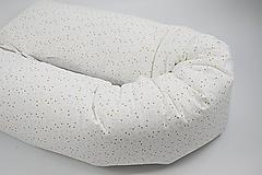 Textil - Tehotenský vankúš / Vankúš na dojčenie ružovo-horčicové mini vzory - 10693904_