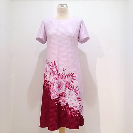 3f6d35f022df Šaty ružové kvety   LuxuryCouture - SAShE.sk - Handmade Šaty