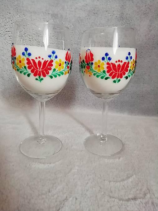 Folk poháre Kvetinový ornament