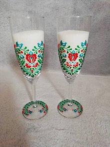 Nádoby - Folk poháre Green Heart - 10694142_