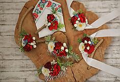 Ozdoby do vlasov - Romantický kvetinový hrebienok do vlasov - 10693216_
