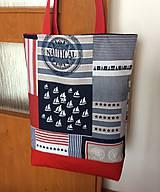 Nákupné tašky - námornícka taška - 10694034_