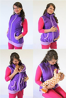Tehotenské oblečenie - Dojčiaca, Tehotenská a Nosiaca VESTA - TEPLÁKOVINA 100%Ba - 10695276_