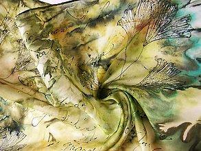 Šatky - Jinan /hedvábný šátek 35 x 130 cm/ - 10693308_