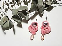 Soutache earring Lena - ručne šité šujtášové náušnice