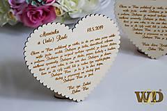 Dekorácie - Poďakovania rodičom s podstavcom - 10693335_
