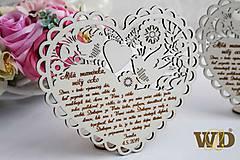 Dekorácie - Poďakovania rodičom Ľudové srdce - 10693340_