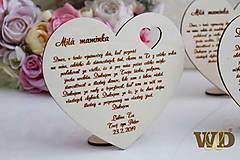 Dekorácie - Poďakovania rodičom s podstavcom - 10693342_