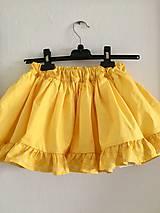 Detské oblečenie - detská sukňa s volánom - 10693456_