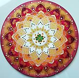 Dekorácie - Mandala šťastného a radostného života - 10695993_