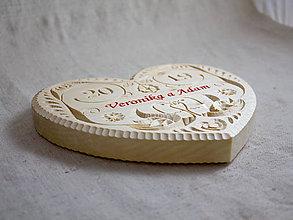 Darčeky pre svadobčanov - Srdce svadobné - 10695218_