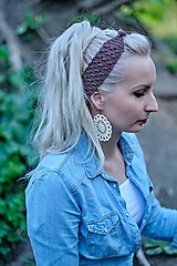 Ozdoby do vlasov - Hnedá čelenka - 10693378_