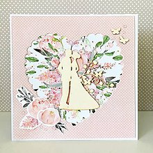 Papiernictvo - Svadobná pohľadnica - 10694415_
