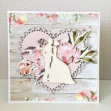 Papiernictvo - Svadobná pohľadnica - 10694421_