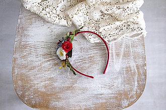 Ozdoby do vlasov - Kvetinová čelenka ,,folk I.,, - 10693683_