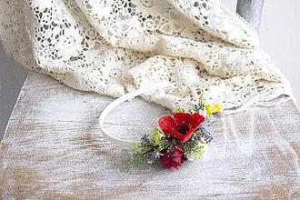 Ozdoby do vlasov - Kvetinová čelenka ,,folk II.,, - 10693843_
