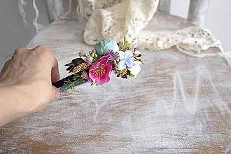 Ozdoby do vlasov - Kvetinová čelenka ,,farebná,, - 10693948_