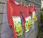 Detské oblečenie - Šaty s vlečkou - červené, dlhý rukáv - 10693227_