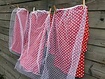 Detské oblečenie - Šaty s vlečkou - červené, dlhý rukáv - 10693229_