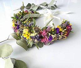 Iné doplnky - Venček zo sušených kvetov lúčny - 10694172_
